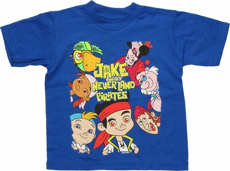 Jake and the Never Land Pirates Cast Around Toddler T Shirt