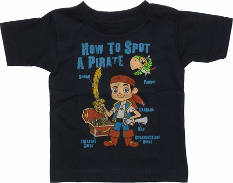 Jake and the Never Land Pirates Spot Toddler Shirt