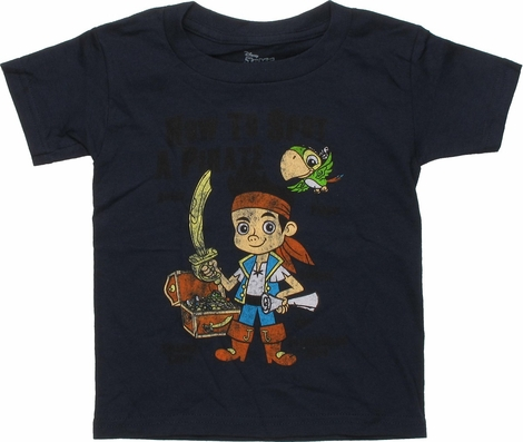 Jake and the Never Land Pirates Treasure Toddler T-Shirt