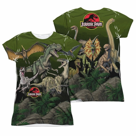 Jurassic Park Pack Of Dinos FB Sub Juniors T Shirt