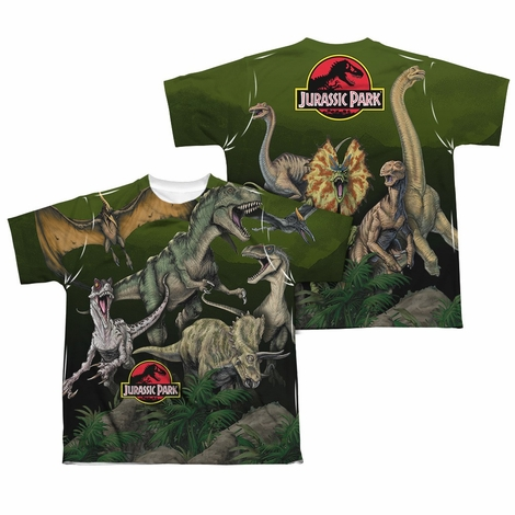Jurassic Park Pack Of Dinos FB Sub Youth T Shirt