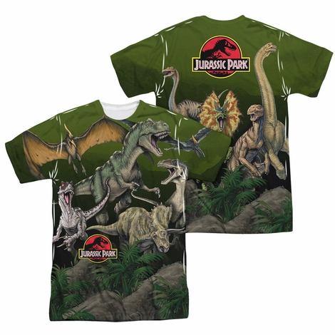 Jurassic Park Pack Of Dinos FB Sublimated T Shirt