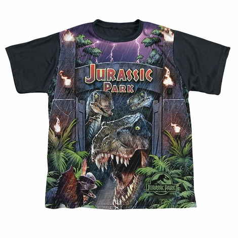 Jurassic Park Welcome BB Dye Sub Youth T Shirt