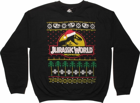 Jurassic World Christmas Logo Sweatshirt