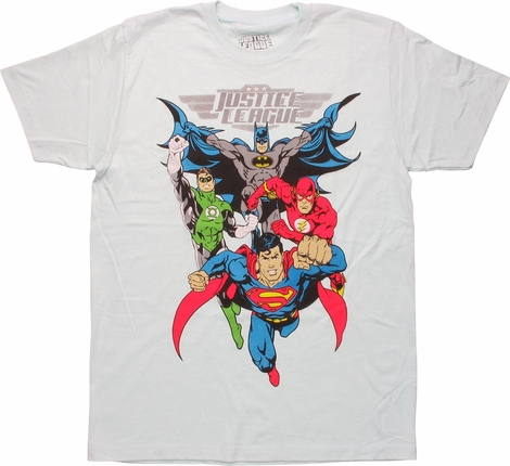 Justice League Heroes Ready To Fight T-Shirt