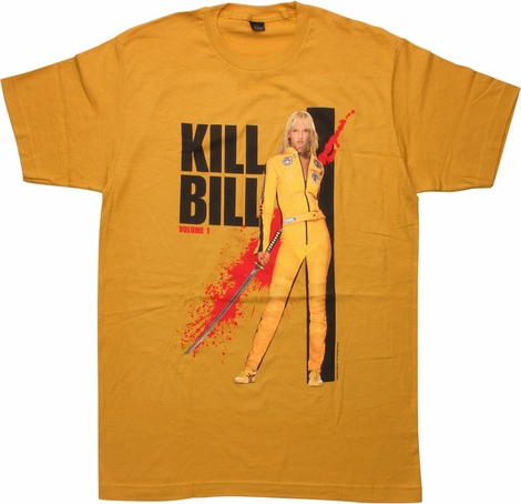 Kill Bill Vol 1 Blood Splattered Poster T-Shirt