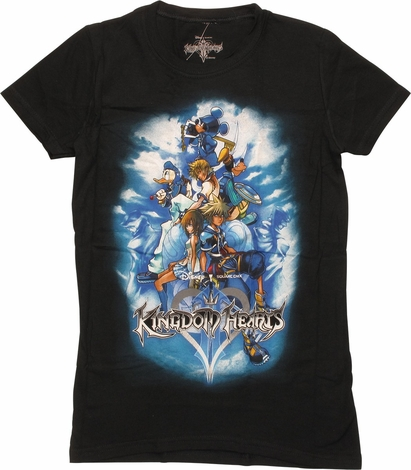 Kingdom Hearts Artwork Poster Juniors T-Shirt