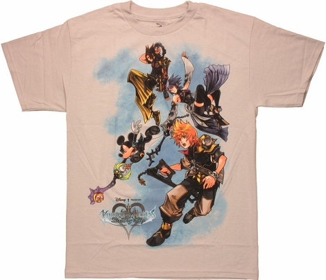 Kingdom Hearts Birth by Sleep Flying T Shirt