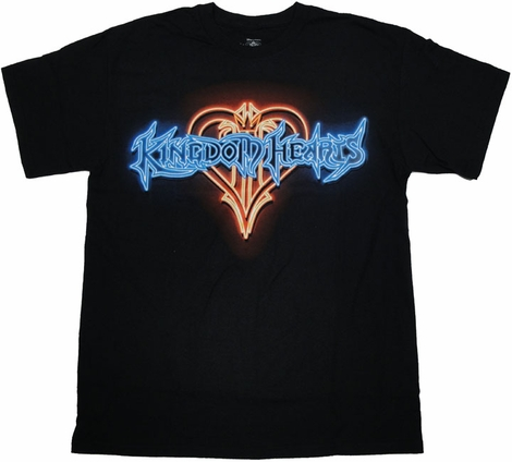Kingdom Hearts Neon Sign T Shirt