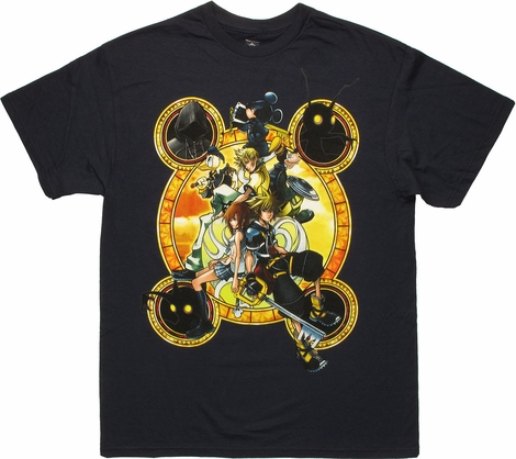 Kingdom Hearts Stacked Against Navy T Shirt