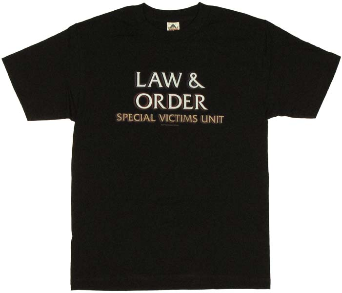 Law and order svu logo t shirt for Order shirts with logo