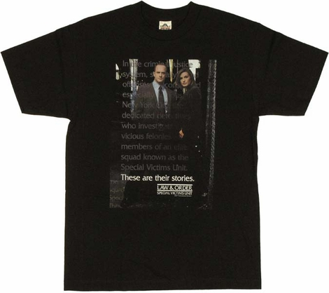 Law and order svu t shirt for Order screen printed shirts