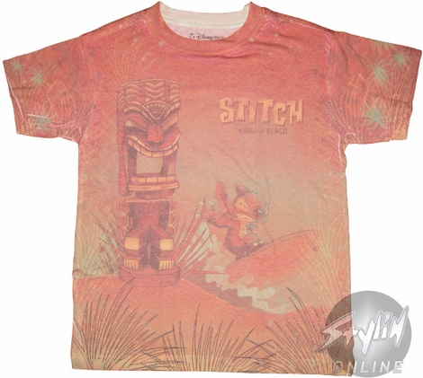 Lilo and Stitch Surfboard Youth T-Shirt