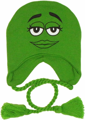 M and M Green Lapland Beanie