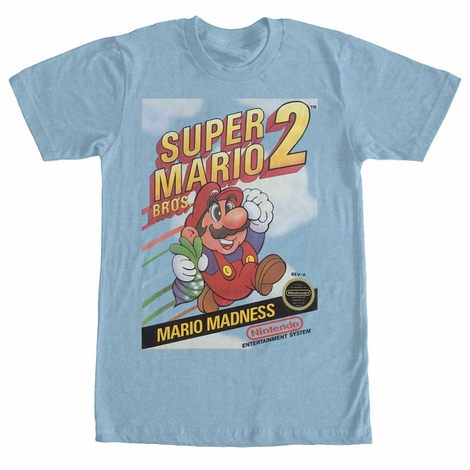 Mario 2 NES Box Art T-Shirt