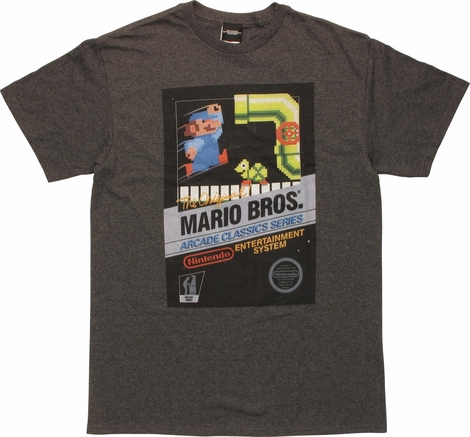 Mario Bros Arcade Classics Heather T-Shirt