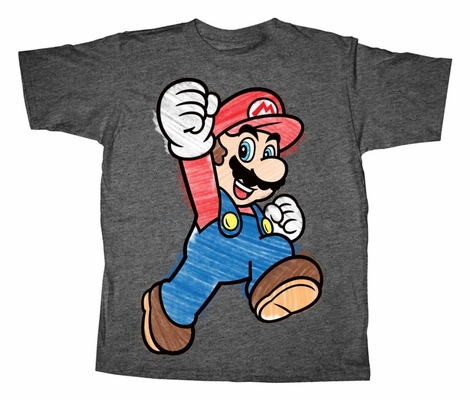 Mario Chalk Hop Youth T-Shirt