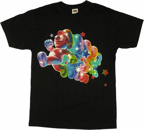 Mario Galaxy Rainbow T Shirt