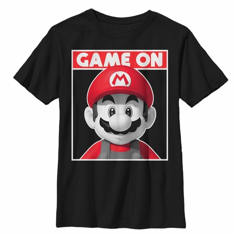 Mario Game On Youth T-Shirt