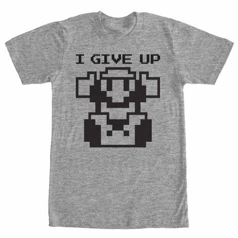 Mario I Give Up T-Shirt
