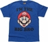 Mario I'm The Big Bro Royal Blue Youth T-Shirt