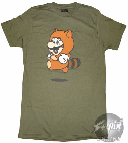 Mario Raccoon Suit T-Shirt Sheer