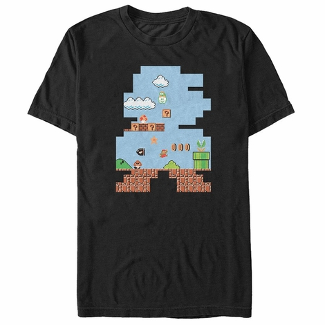 Mario Shaped Screen T-Shirt