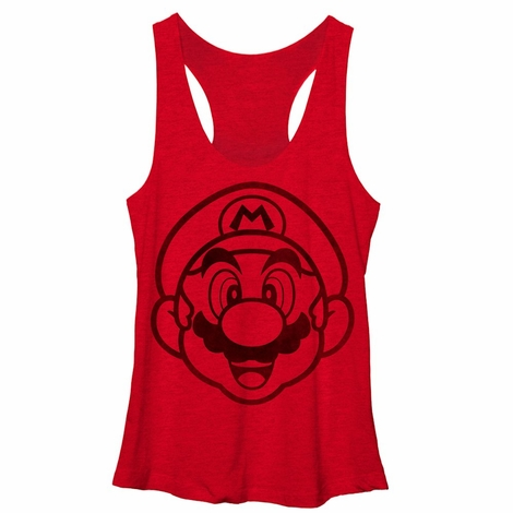 Mario Subtle Face Tank Top Juniors T-Shirt