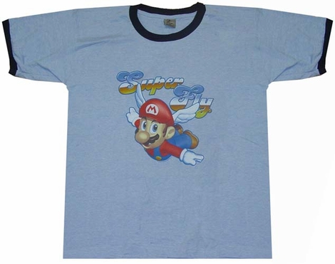 Mario Super Fly T-Shirt Sheer