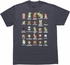 Mario Super Mario Bros Cast Navy T Shirt