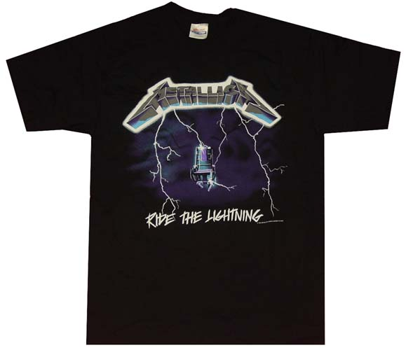 metallica ride the lightning t shirt. Black Bedroom Furniture Sets. Home Design Ideas