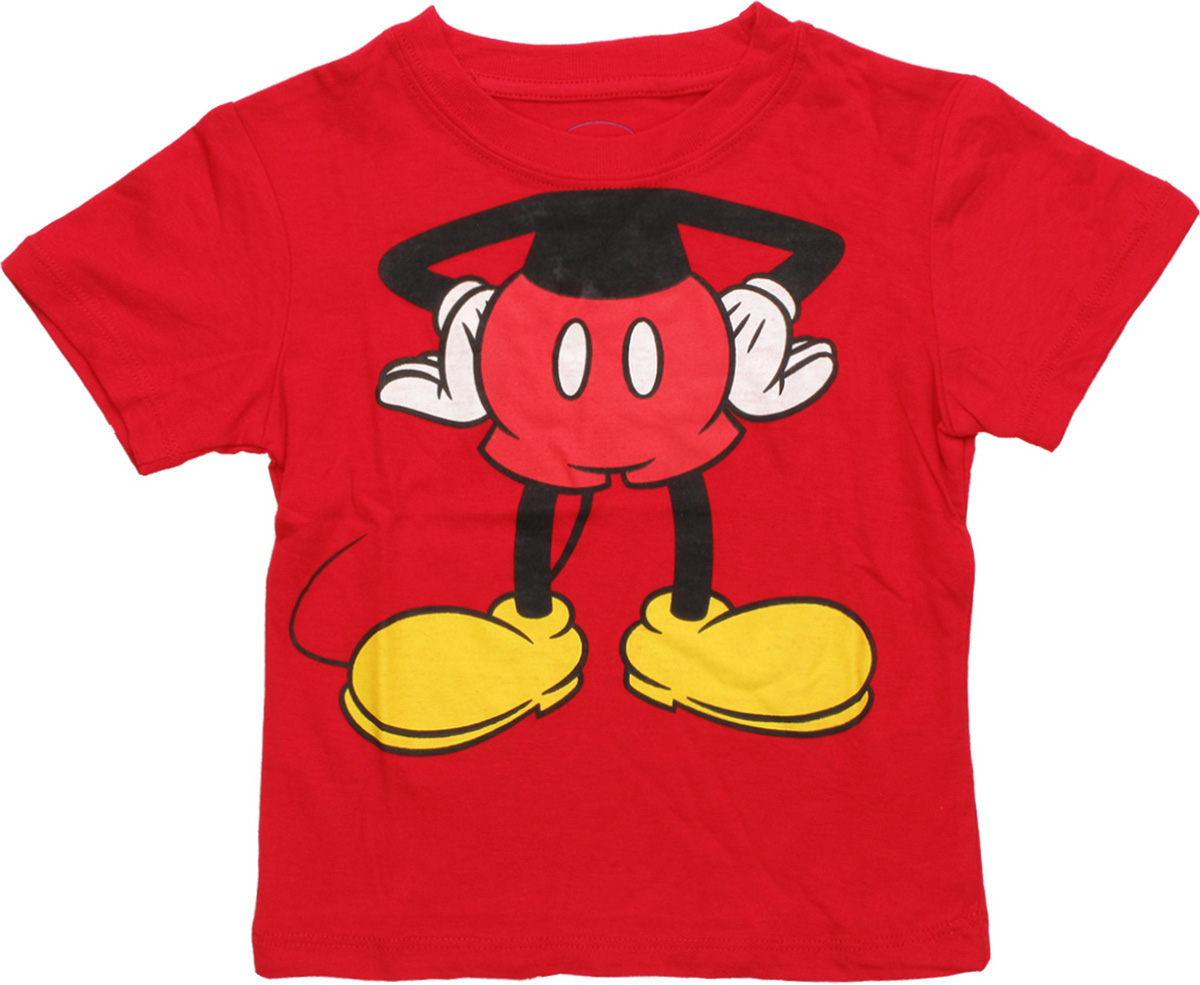 mickey mouse body toddler t shirt. Black Bedroom Furniture Sets. Home Design Ideas