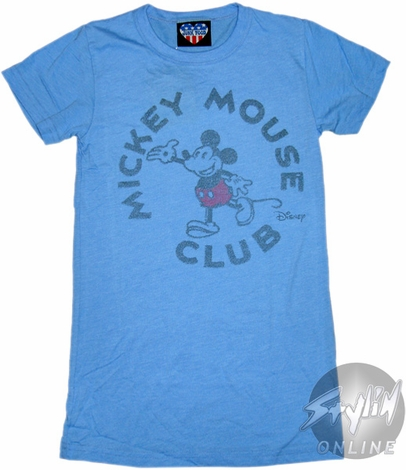 Mickey Mouse Club Blue Baby Tee