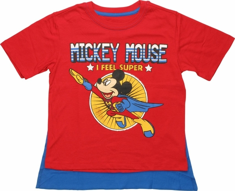 Mickey Mouse Feel Super Caped Juvenile T-Shirt