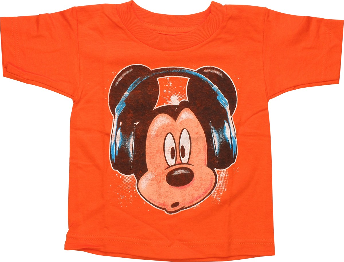 disney mickey mouse mickey mouse headphones toddler t shirt. Black Bedroom Furniture Sets. Home Design Ideas