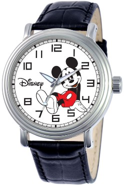 Mickey Mouse Mens Vintage Black Watch