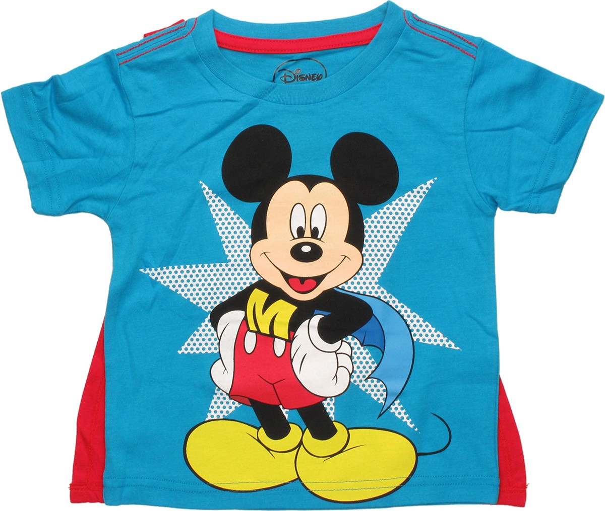mickey mouse mickey mouse super mickey caped toddler t shirt. Black Bedroom Furniture Sets. Home Design Ideas