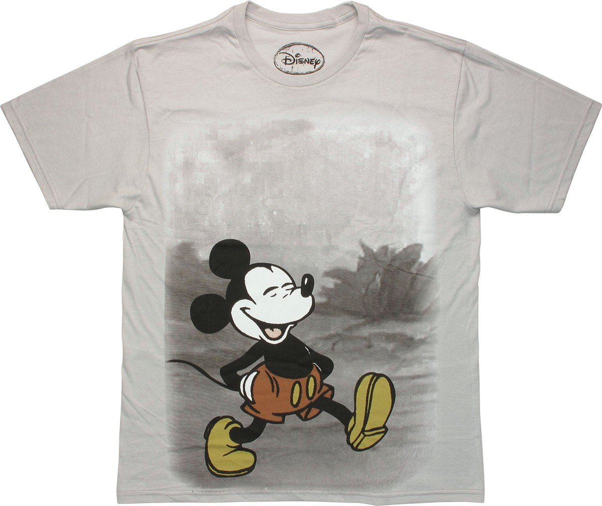 mickey mouse trail walk t shirt sheer. Black Bedroom Furniture Sets. Home Design Ideas
