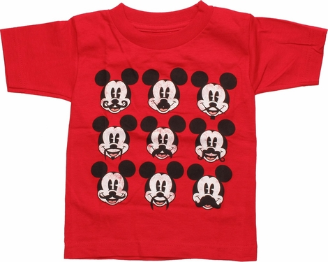 Micky Mouse Mustache Styles Toddler T-Shirt