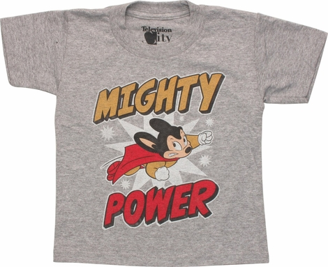 Mighty Mouse Mighty Power Gray Toddler T-Shirt