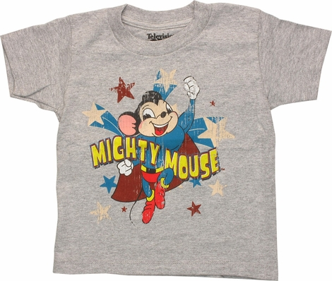 Mighty Mouse Patriotic Distressed Toddler T-Shirt