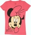 Minnie Mouse Big Face Youth Girls T Shirt