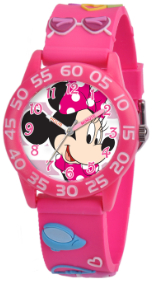 Minnie Mouse Kids 3D Plastic Pink Watch