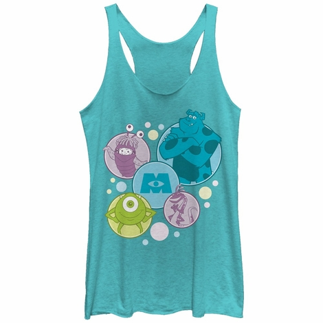 Monsters Inc Bubble Group Tank Top Juniors T-Shirt