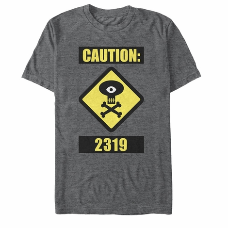 Monsters Inc Caution Sign T-Shirt