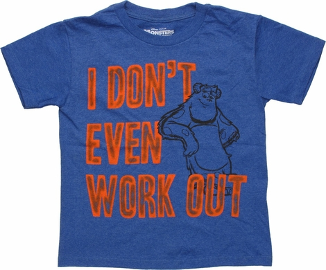 Monsters Inc Dont Work Out Heather Youth T Shirt