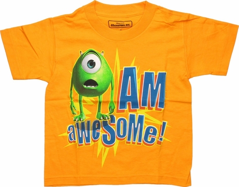Monsters Inc Eye Am Awesome Juvenile T-Shirt