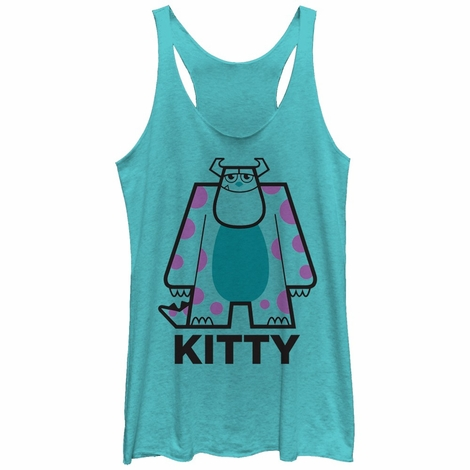 Monsters Inc Kitty Lines Tank Top Juniors T-Shirt