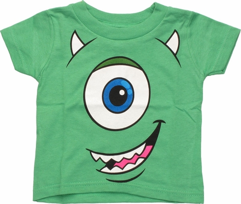 Monsters Inc Mike Face Glow Infant T Shirt