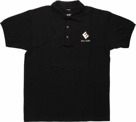Mr Robot Evil Corp Logo Polo Shirt